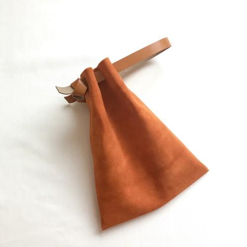 Flat Drawstring Bag《orange》