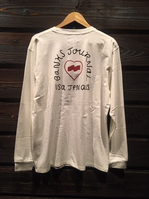 Banks Journal HEART SIGNS L/S TEE White Lサイズ  SMLS003