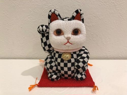 招き猫 江戸木目込み人形 市松