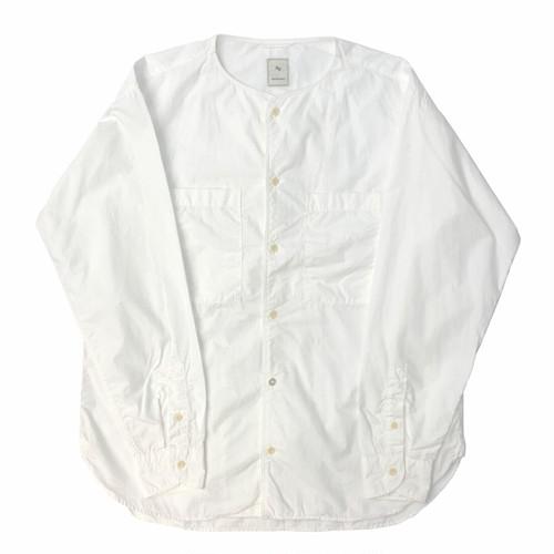 TYPEWRITER BASEBALL SHIRT / タイプライターベースボールシャツ(WHT)