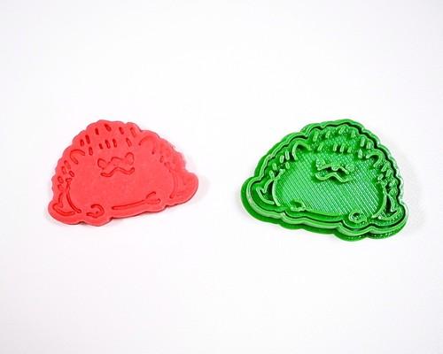 小さなハリネズミのクッキー型【正面向き】3dプリンター クッキー型