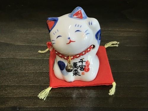 染錦まねき猫(千客萬来)
