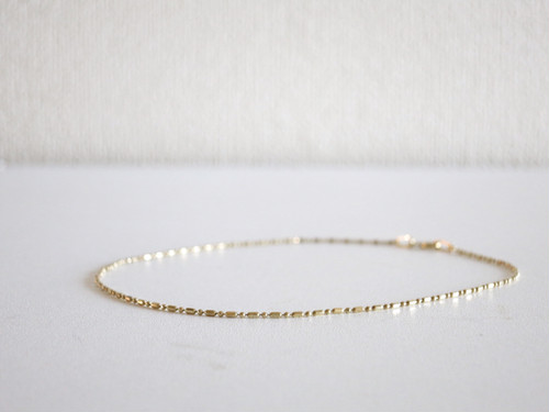 Vintage Anklet Made in Italy Gold
