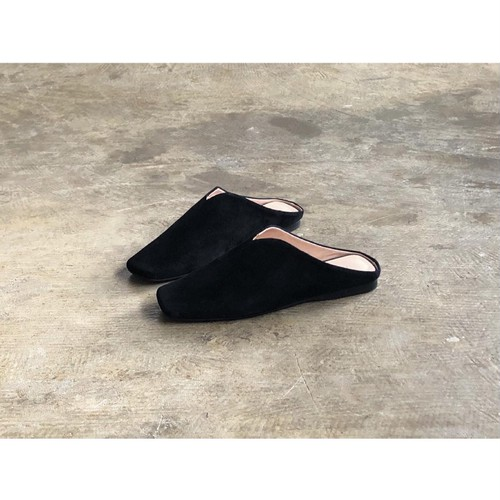 MOHI(モヒ) Square Toe Suede Leather Babouche