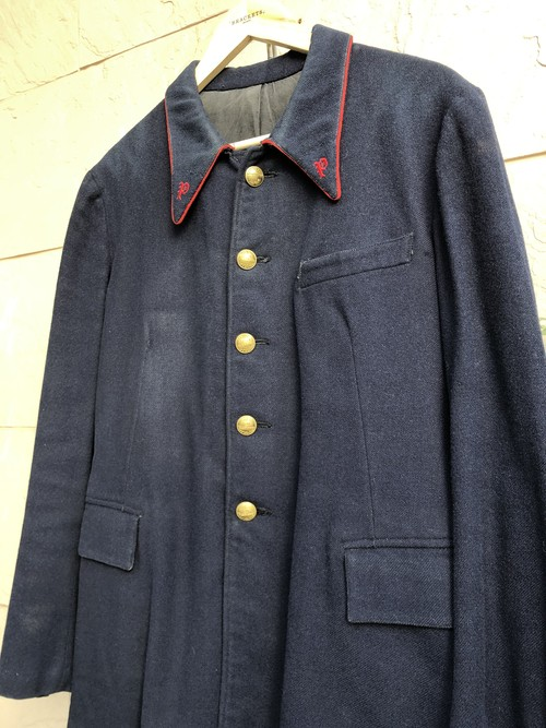 〜1930s French postes et télégraphes navy wool jacket