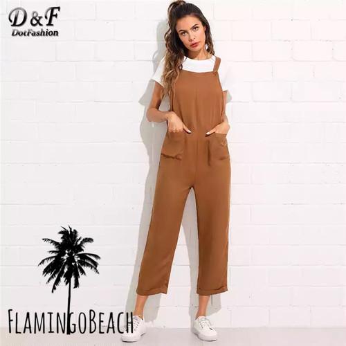 【FlamingoBeach】brown overall オーバーオール