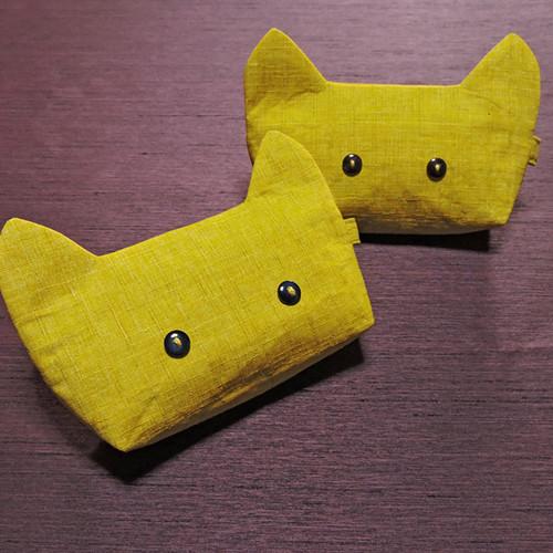 にゃんポーチ 黄色