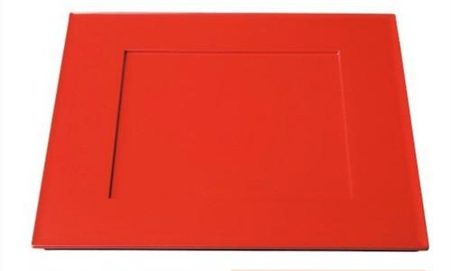 33cm 角プレイスプレート 赤