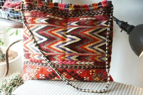 50's Indian carpet Bag