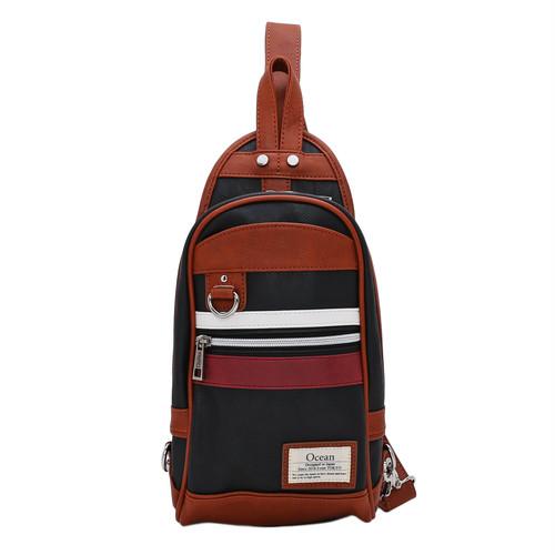 [ Ocean ] W LINE PU BODY BAG (BG-017)