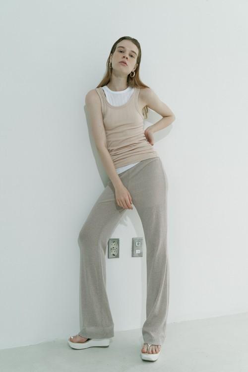 Knit pants / Beige