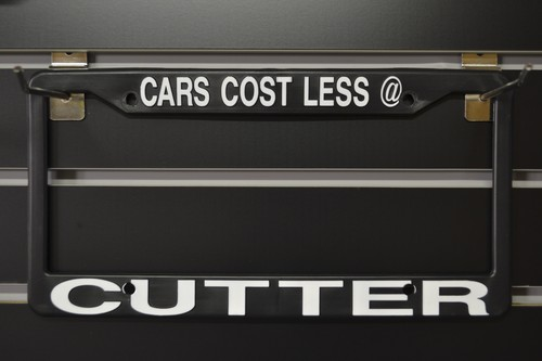 CUTTER Licence Plate Frames