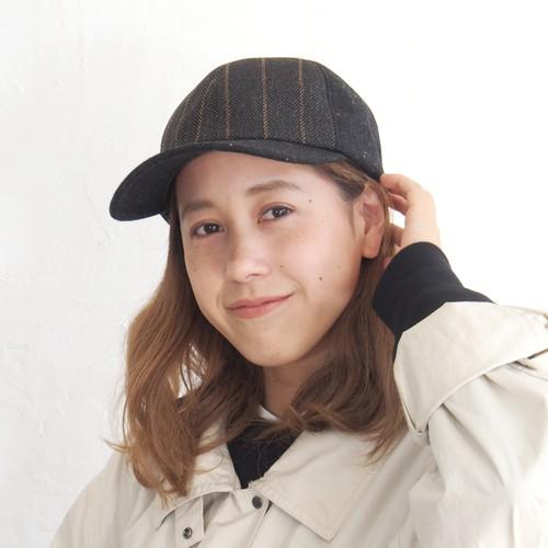 【水野ミリナー】ツイードキャップ 62-9201