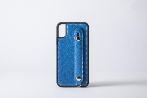 【牛革】高知のiPhoneケース ブルー(7/8、X/XS)