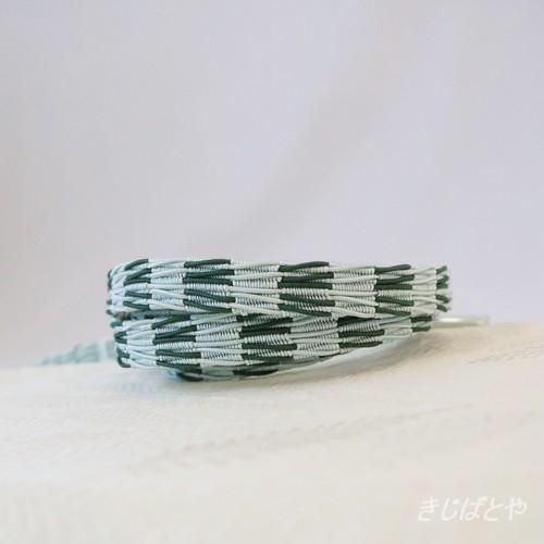 正絹 レース帯締め 水草