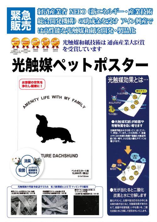 光触媒ペットポスター(2枚セット)税込