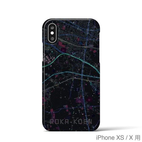 【芦花公園】地図柄iPhoneケース(バックカバータイプ・ブラック)