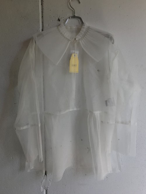 PONTI  silk organdy blouse