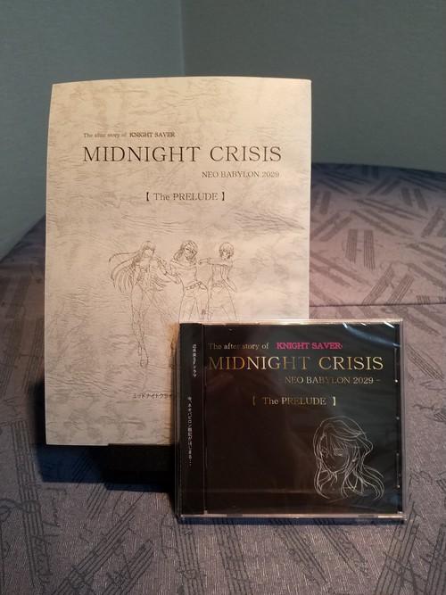 MIDNIGHTCRISIS 【 収録台本・CDセット】複製サイン・ミニ色紙付き(真夜零子)