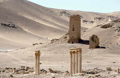 シリアのパルミラ遺跡  墓の谷