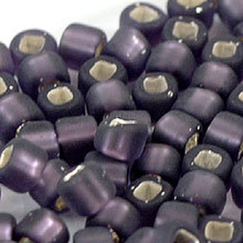 日本製シードビーズ、サイズ6/0、Violet/Mat