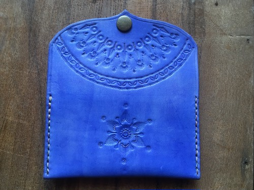 flat coin case #d.blue