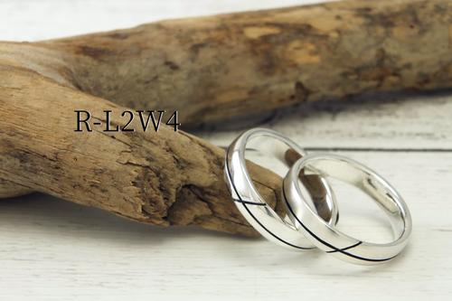 R-L2RW4 --2本溝の丸甲リング幅4mm<鏡面/ヘアライン選択可>
