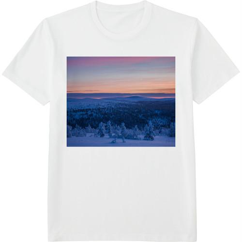 30.Finland100 Tシャツ / 雪の絶景
