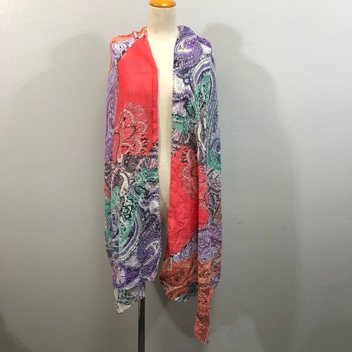 .ETRO SILK BREND PAISLEY PATTERNED SHAWL MADE IN ITALY/エトロシルク混ペイズリー柄ショール(ストール) 2000000030388