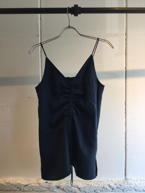 GVGV   DRAWSTRING CAMI TOP (NAVY)