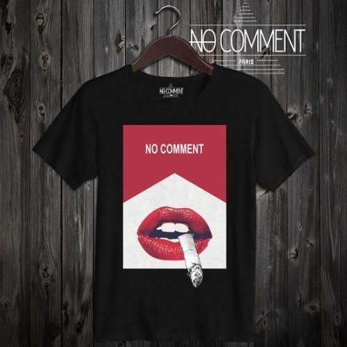話題の人気モデル緊急入荷! NO COMMENT PARIS ノーコメント パリ Tシャツ 半袖 クルーネック Tシャツ メンズ 正規販売店 LTN128 ブラック