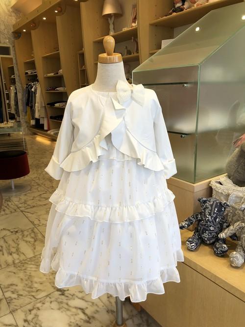 T・LOVE ノースリーブフリルティアードドレス(ホワイト) 12才(150)~L(165)  ティラブ
