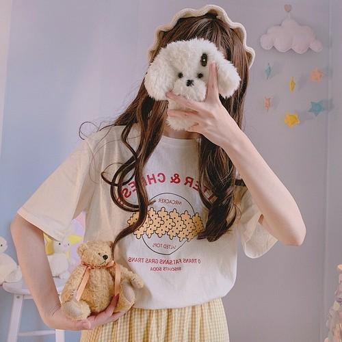 【トップス】合わせやすいシンプルレトロラウンドネックTシャツ