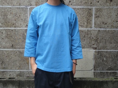 CAMBER (キャンバー) 8oz MAX WEIGHT CUT 8分袖 T-SHIRT GARMENT DYED サックス