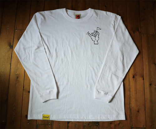 HAND FLAG LONG SLEEVE T-SHIRT <WHITE>