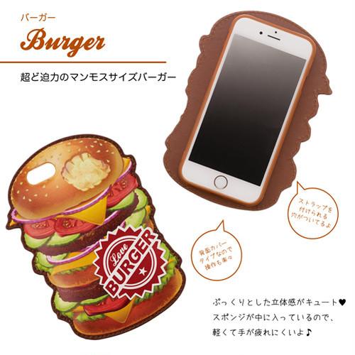 iPhone7 バックカバー iDressアメリカンデリー(ハンバーガー)