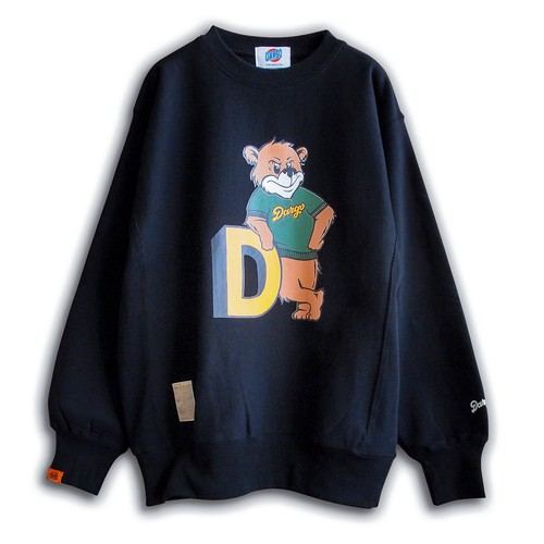 "【DARGO】""College Bear"" Heavy Weight Sweat Shirt (BLACK)"