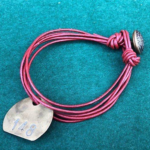 NCB Colliery Check & Vintage Leather Bracelet #148