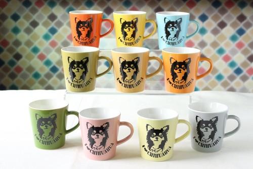 Art Dog チワワビンテージカラーマグカップ