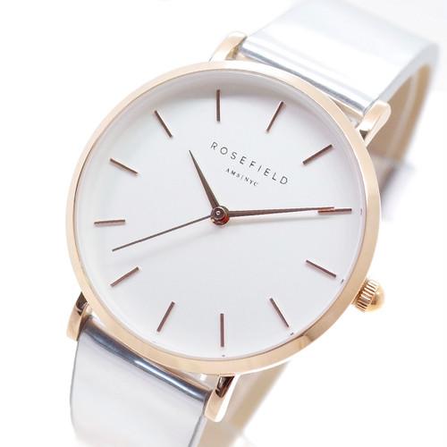 ローズフィールド ROSEFIELD 腕時計 レディース SHMWR-H35 THE PREMIUM GLOSS クォーツ ホワイト シルバー