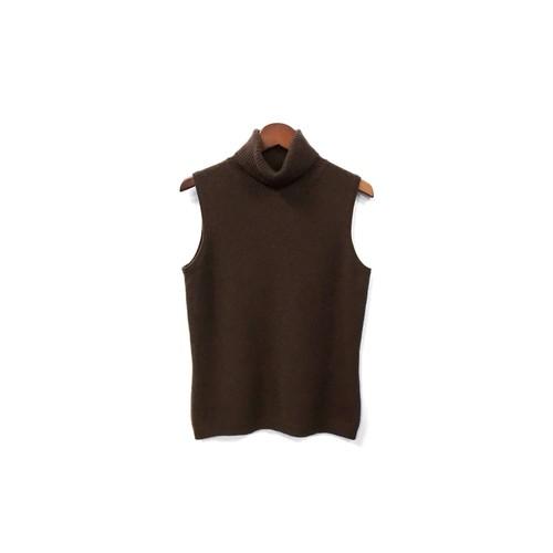 USED - Cashmere Sleeveless Turtleneck Knit ¥8000+tax