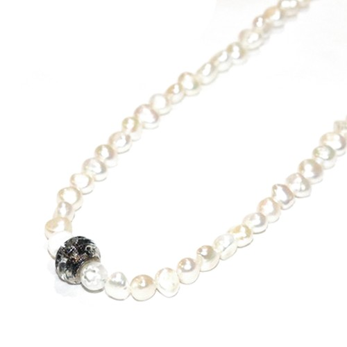 SPARKING Dragonfly Beads Necklace WHITE