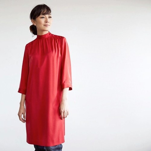 SINME STAND COLLAR BLOUSE レッド