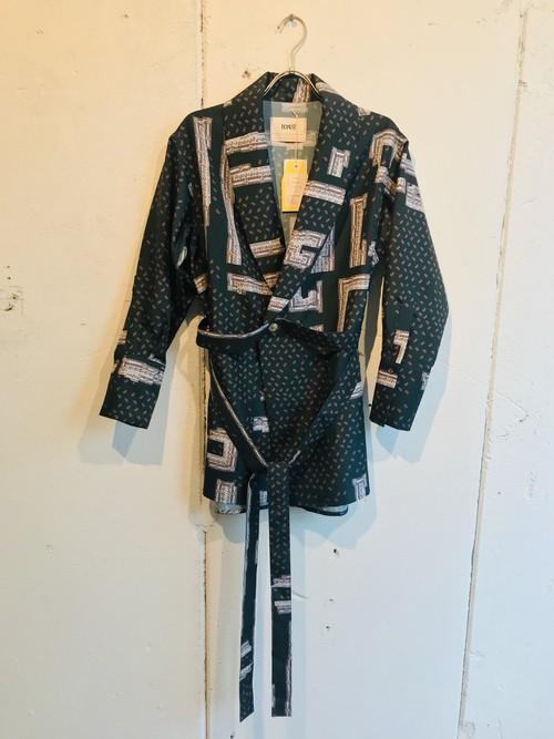 PONTI  paisley inkjet shawl color shirt