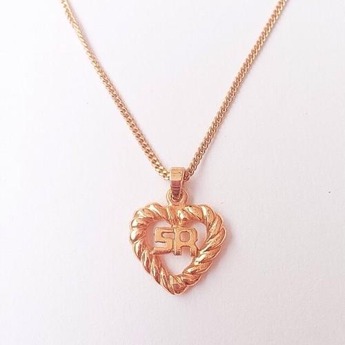 """SONIA RYKIEL"" heart necklace[n-110]"