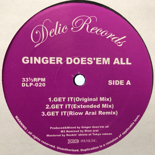 GINGER DOES'EM ALL / Get It(12inch Single)