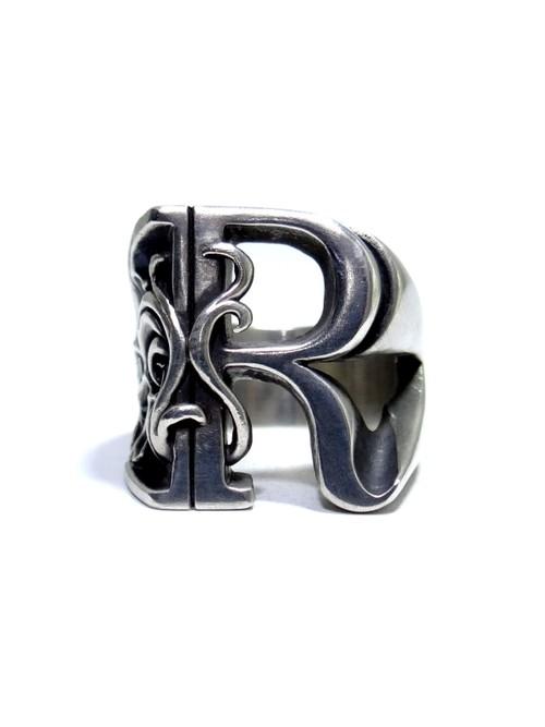 alphabet ring#R (silver925) - アルファベットモチーフ リングR-