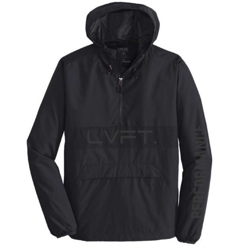 LIVE FIT Icon Anorak Jacket- Black/Reflective