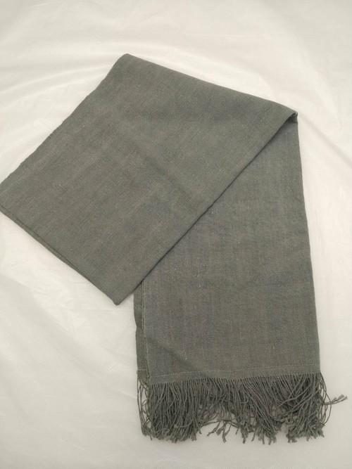 GBJWブータン産ストール18008 Indigo Wild silk 80% Cotton 20%
