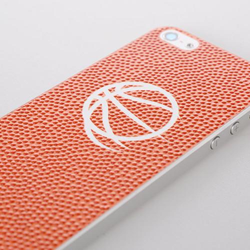 バスケットボールスピリッツ iPhone(5/5S)用背面デザインシール(OnePoint Logo Orange)